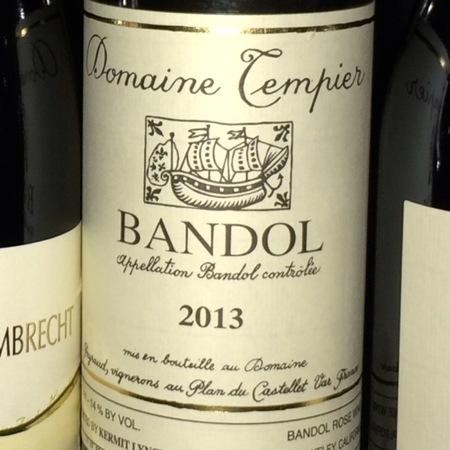 Domaine Tempier Bandol Rouge Mourvedre Blend 2013