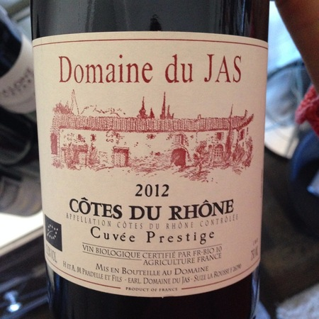 Domaine du Jas Cuvée Prestige Côtes du Rhône Grenache Syrah 2015