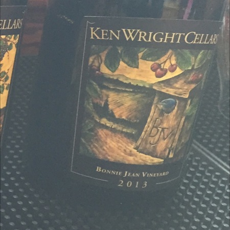 Ken Wright Cellars Bonnie Jean Vineyard Pinot Noir 2016 (750ml 12bottle)
