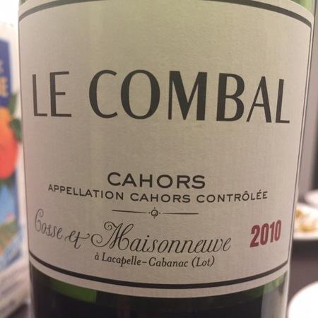 Domaine Cosse et Maisonneuve Le Combal Cahors Malbec 2010