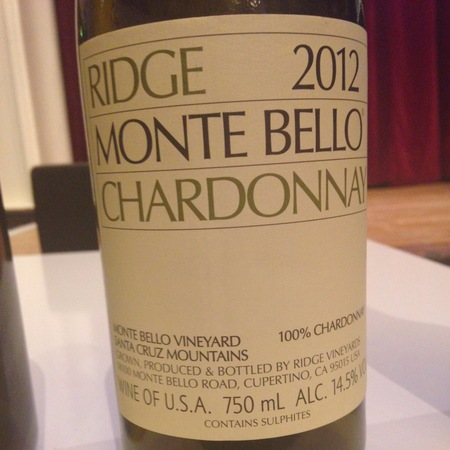 Ridge Vineyards Monte Bello Chardonnay 2013