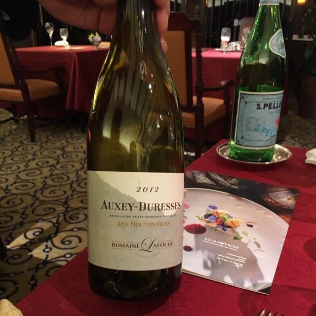 Les Boutonniers Auxey-Duresses Chardonnay 2013