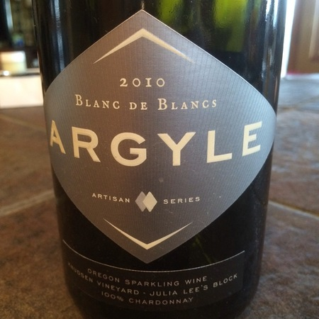 Argyle Artisan Series Blanc de Blancs Julia Lee's Block Knudsen Vineyard Chardonnay 2012