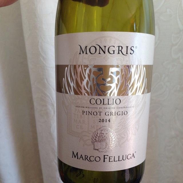 Mongris Collio Pinot Grigio 2014