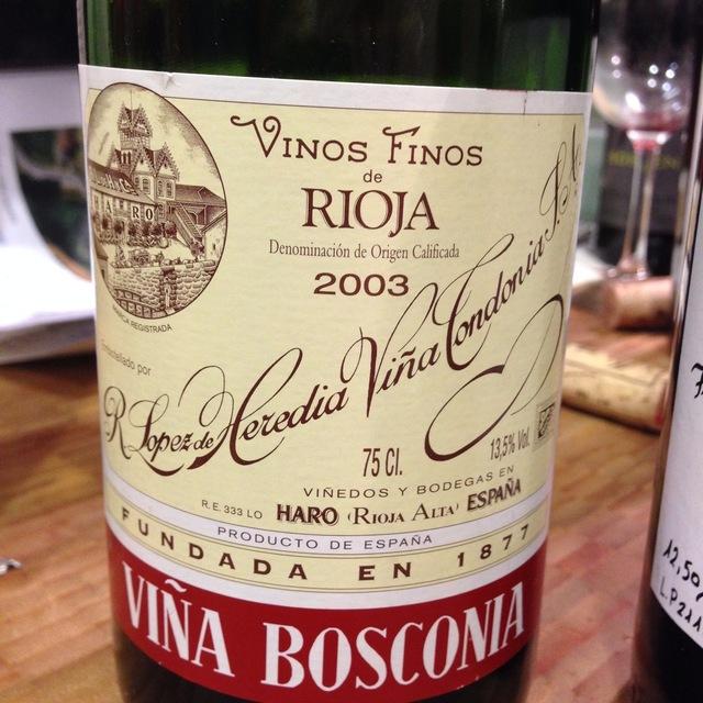 Viña Bosconia Reserva Rioja Tempranillo Blend 2003