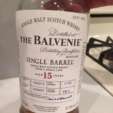 The Balvenie Distillery Single Barrel Aged 15 Years Single Malt Scotch Whisky NV