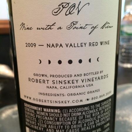 Robert Sinskey Vineyards POV Napa Valley Cabernet Sauvignon 2012