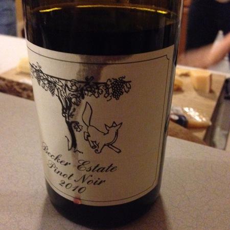 Weingut Friedrich Becker Becker Estate Pinot Noir 2012