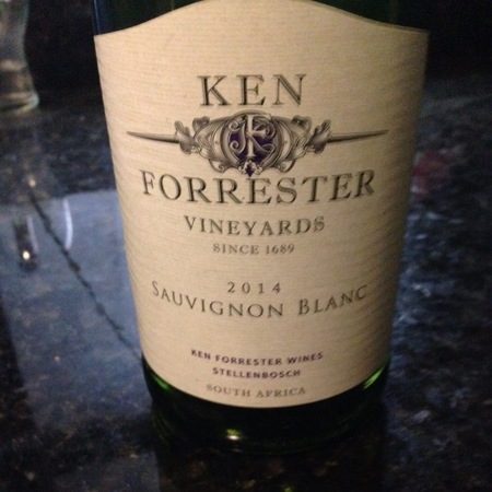 Ken Forrester Stellenbosch Sauvignon Blanc 2014