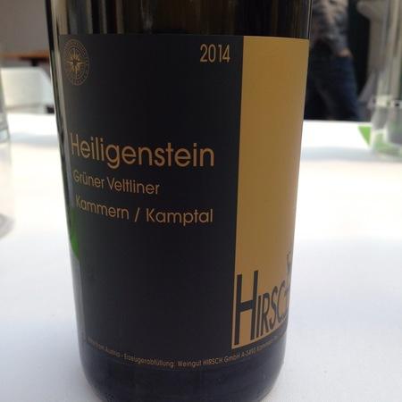 Weingut Hirsch Heiligenstein Grüner Veltliner 2014 (375ml)
