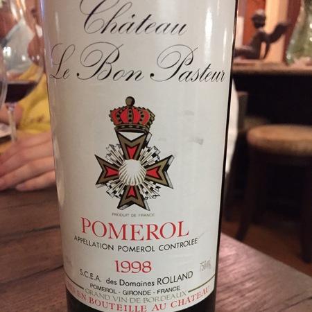 Château Le Bon Pasteur Pomerol Red Bordeaux Blend 1998