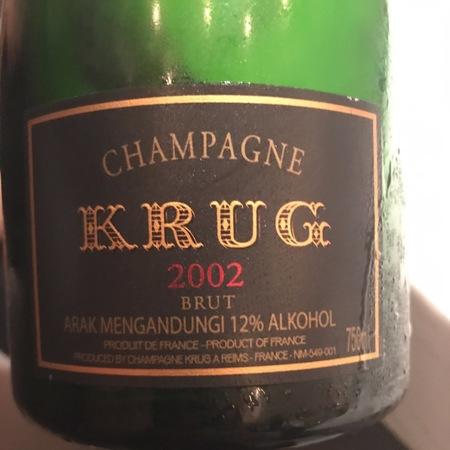 Krug Brut Champagne Blend 2002