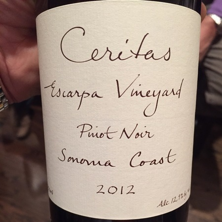 Ceritas Escarpa Vineyard Pinot Noir 2012