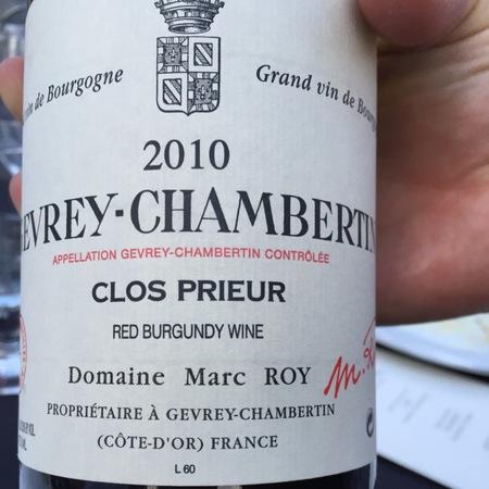 Domaine Marc Roy Clos Prieur Gevrey-Chambertin Pinot Noir 2014