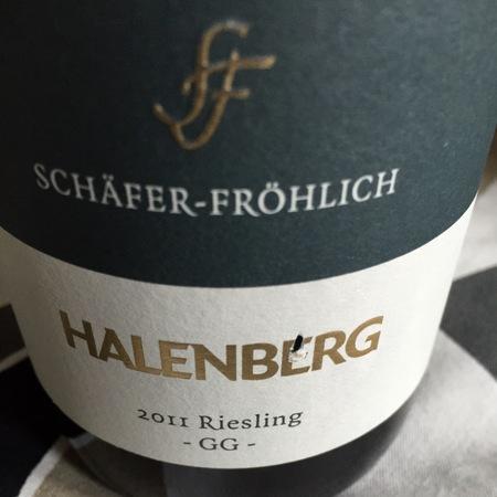 Schäfer-Fröhlich Halenberg GG Riesling 2015
