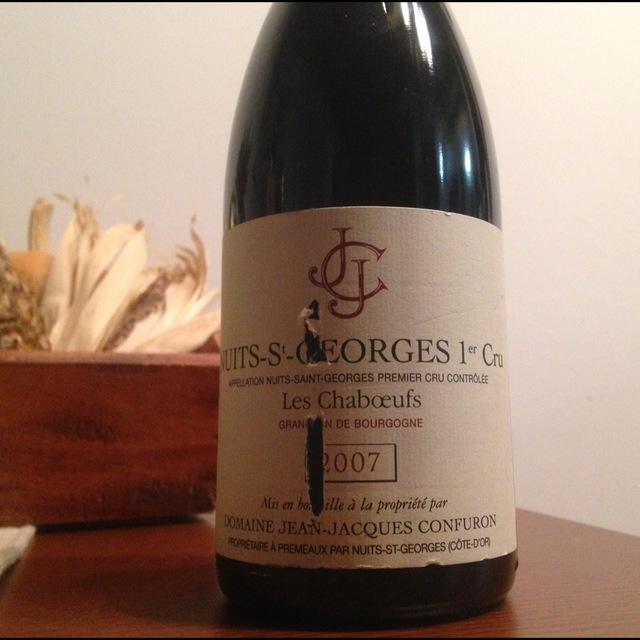 Les Chaboeufs Nuits-St-Georges 1er Cru Pinot Noir 2012