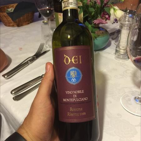 Cantine Dei Riserva Bossona Vino Nobile di Montepulciano Sangiovese 2009