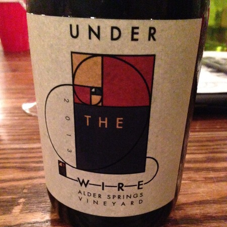 Under the Wire Alder Springs Vineyard Sparkling Chardonnay  2013