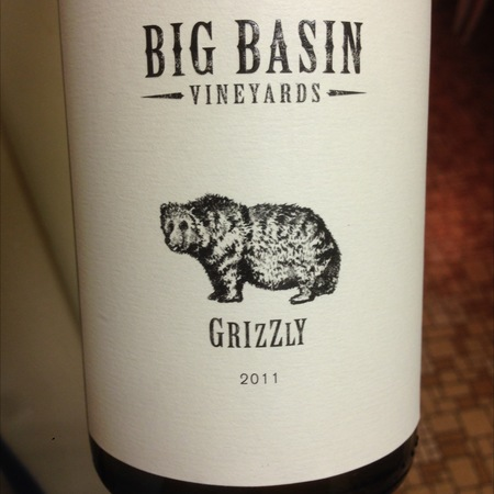 Big Basin Vineyards Grizzly Grenache Blend 2012