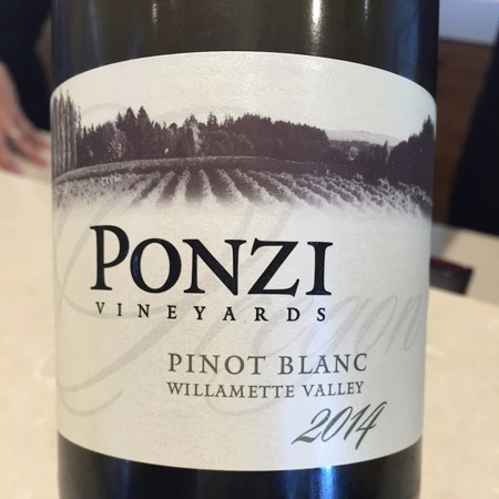 Ponzi Vineyards Willamette Valley Pinot Blanc 2014