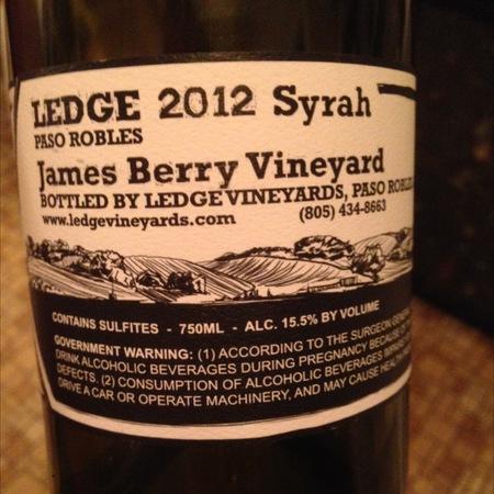 Ledge James Berry Vineyard Syrah 2014