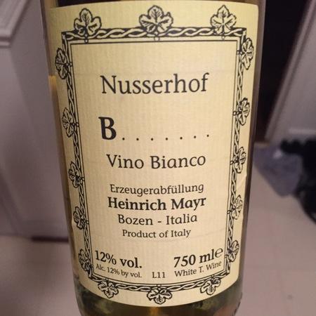 Heinrich Mayr (Nusserhof) B....... Bianco Blatterle 2014