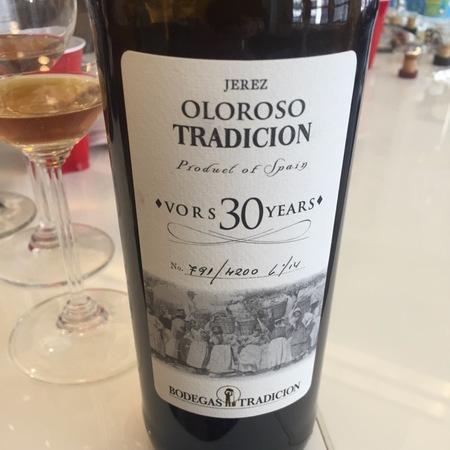 Bodegas Tradición 30 Years VORS Oloroso Jerez-Xérès-Sherry Palomino Fino