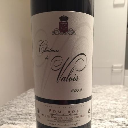 Château de Valois Pomerol Red Bordeaux Blend 2012
