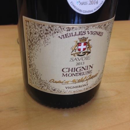 André et Michel Quenard Vieilles Vignes Chignin Mondeuse 2014