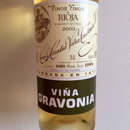 R. López de Heredia Viña Gravonia Crianza Rioja Viura 2006