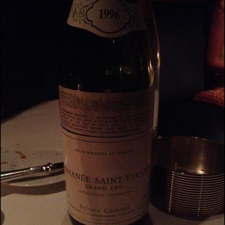 Sylvain Cathiard Romanée St. Vivant Grand Cru Pinot Noir 1996