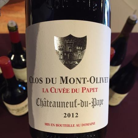 Clos du Mont-Olivet La Cuvée du Papet Châteauneuf-du-Pape Red Rhone Blend 2012