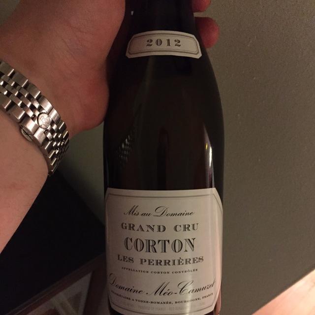 Perrières Corton Grand Cru Pinot Noir 2012