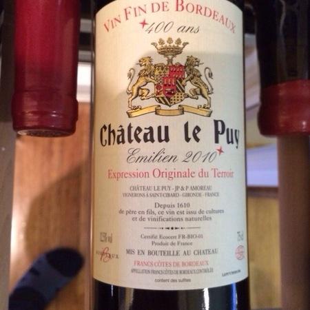 Château Le Puy Emilien Côtes de Francs Red Bordeaux Blend 2012