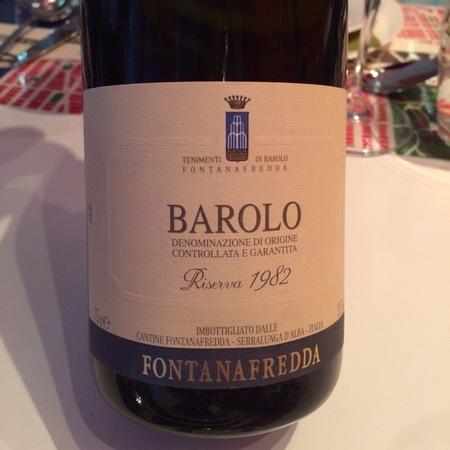Fontanafredda Barolo Nebbiolo 1982