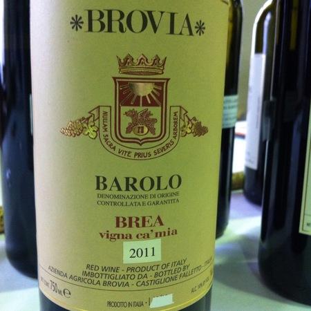 Azienda Agricola Brovia Brea Vigna Ca'Mia Barolo Nebbiolo  2011