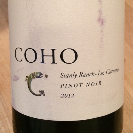 Coho Stanly Ranch Pinot Noir 2012