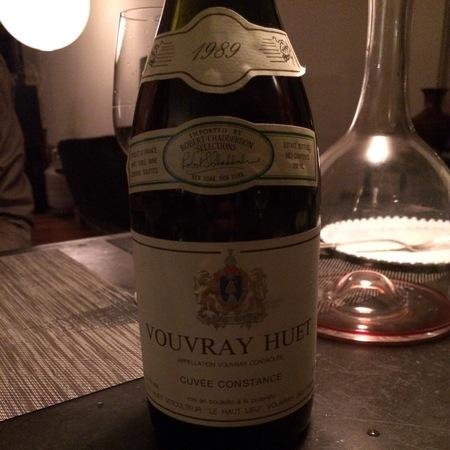 Domaine Huet Cuvée Constance Vouvray Chenin Blanc 1989