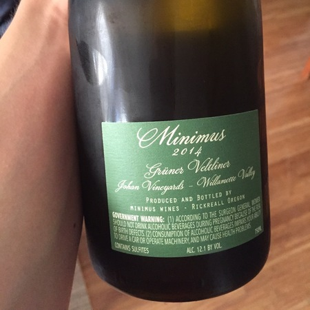 Minimus Wines Johan Vineyards Grüner Veltliner 2015