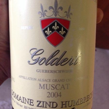 Domaine Zind Humbrecht Goldert (Gueberschwihr) Grand Cru Muscat 2004