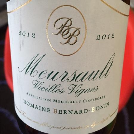Domaine Bernard-Bonin Vieilles Vignes Meursault Chardonnay 2014