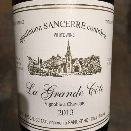 Domaine Pascal Cotat La Grande Côte Sancerre Sauvignon Blanc 2013