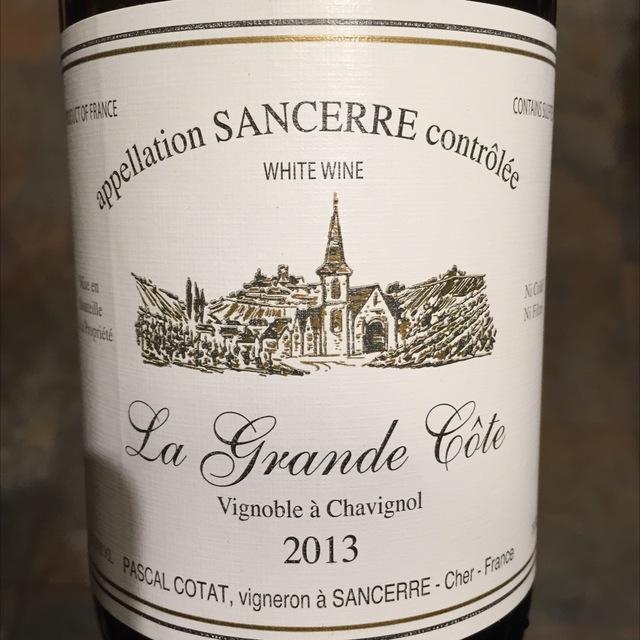 La Grande Côte Sancerre Sauvignon Blanc 2015