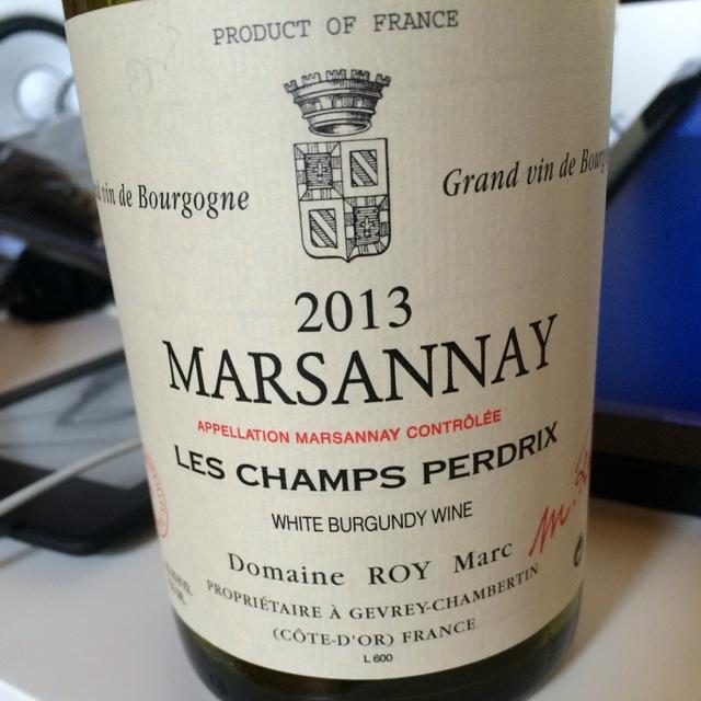 Les Champs Perdrix Marsannay Chardonnay 2013