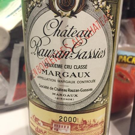 Château Rauzan-Gassies Margaux Red Bordeaux Blend 2000