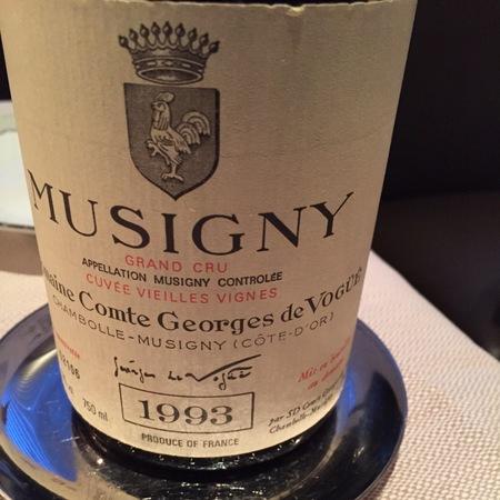 Domaine Comte Georges de Vogüé Cuvée Vieilles Vignes Musigny Grand Cru Pinot Noir 1993 (1500ml)