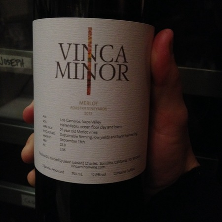 Vinca Minor Adastra Vineyards Merlot 2013