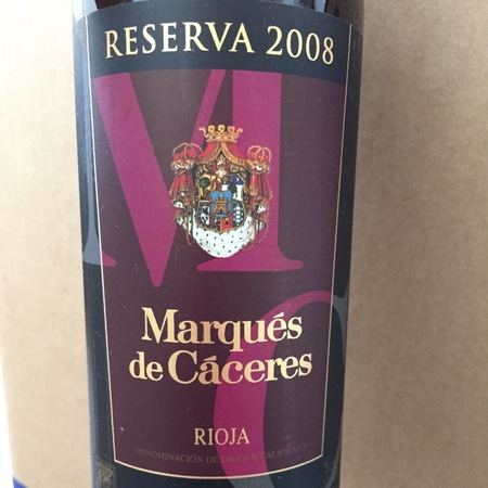 Marqués de Cáceres Reserva Rioja Tempranillo Blend  2011