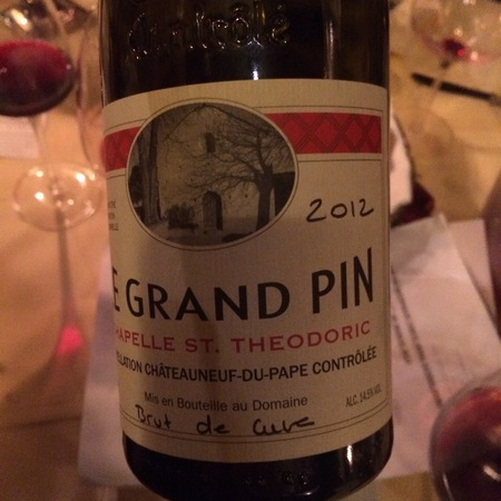 Chapelle St. Theodoric Le Grand Pin Châteauneuf-du-Pape Red Rhone Blend 2012