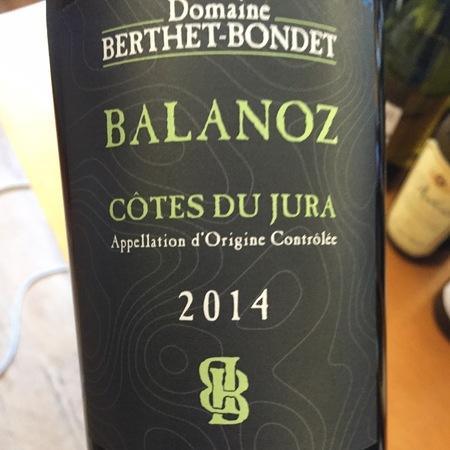 Domaine Berthet Bondet Balanoz Côtes du Jura Chardonnay 2014